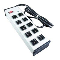 10-Outlet 15-Amp Compact Power Strip with Lighted On/Off Switch, 6 ft. Cord