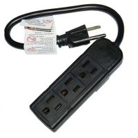 1 ft. 16-AWG 3-Outlet Mini Extension Cord