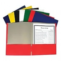 C-Line® Recycled Paper Portfolio Without Prongs, 2 Pocket, Assorted Colors, 60 ct (CLI05300)