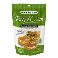 Snack Factory Pretzel Crisps Deli Style Garlic Parmesan All Natural
