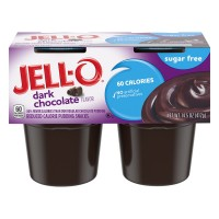 Jell-O Pudding Snacks Dark Chocolate Sugar Free - 4 ct