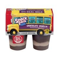 Snack Pack Pudding Chocolate Vanilla - 4 pk
