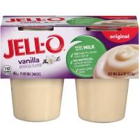 Jell-O Pudding Snacks Vanilla - 4 pk
