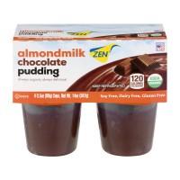 Zen Almond Milk Pudding Chocolate Organic - 4 pk