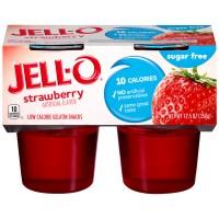 Jell-O Gelatin Snacks Strawberry Sugar Free - 4 ct