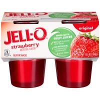 Jell-O Gelatin Snacks Strawberry - 4 ct