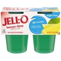 Jell-O Gelatin Snacks Lemon Lime Sugar Free - 4 ct