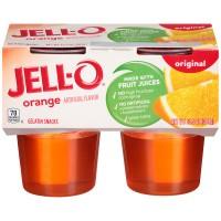 Jell-O Gelatin Snacks Orange - 4 pk