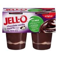 Jell-O Pudding Snacks Chocolate Vanilla Swirls - 4 ct