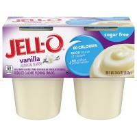 Jell-O Pudding Snacks Vanilla Sugar Free - 4 ct