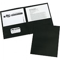 Avery(R) Two-Pocket Folders 47988, Black, Box of 25
