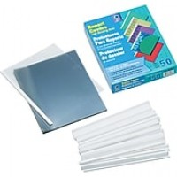 "C-Line Vinyl Report Covers With White Binding Bars, Clear, 8 1/2"" x 11"", 50/Bx"