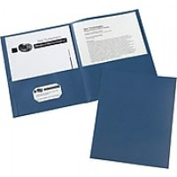 Avery Embossed Two-Pocket Folders, Dark Blue, 25/Box (AVE47985)