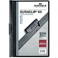 "Durable DuraClip® Report Cover, Black, 8 1/2"" x 11"", 25/Bx"