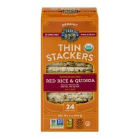 Lundberg Thin Stackers Puffed Grain Cakes Red Rice & Quinoa Organic - 24ct