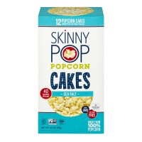 SkinnyPop Popcorn Cakes Sea Salt - 12 ct