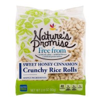 Nature's Promise Free from Crunchy Rice Rolls Sweet Honey Cinnamon