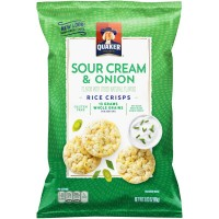 Quaker Popped Rice Crisps Sour Cream & Onion Gluten Free