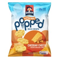 Quaker Popped Cheddar Cheese Rice Crisps Gluten Free