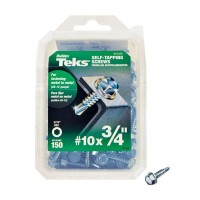 Teks #10 3/4 in. External Hex Flange Hex-Head Self-Drilling Screws (150-Pack)