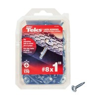 Teks #8 x 1 in. Phillips Fine Zinc-Plated Steel Truss-Head Drill Point Lath Screws (170-Pack)