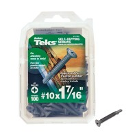 Teks #10 x 1-7/16 in. Phillips Head Self-Tapping Screws (100-Pack)