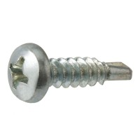 Everbilt #8 x 3/4 in. Zinc-Plated Self-Drilling Pan-Head Phillips Drive Sheet Metal Screw (100-Piece per Pack)