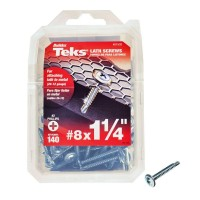 Teks #8 x 1-1/4 in. Zinc Plated Steel Truss Head Phillips Drill Point Lath Screws (140-Pack)