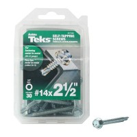 Teks #14 2-1/2 in. External Hex Flange Hex-Head Self-Drilling Screws (30-per Pack)