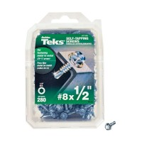 Teks #8 1/2 in. External Hex Flange Hex-Head Self-Drilling Screws (280-Pack)