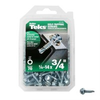 Teks #14 x 3/4 in. External Flange Hex-Washer Head Self-Drilling Screw (70-Pack)