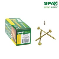 SPAX 1/4 in. x 5 in. T-Star Drive Washer Head Yellow Zinc Coated PowerLag Screw Contractor Pax (50-Box)