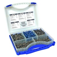 Kreg 1 in. to 2-1/2 in. Square Drive Round Head Pocket-Hole Screw Kit (675-Pack)