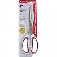 "Singer 00450 Sharp Tip 8"" Multi Purpose Scissors, Red/White"