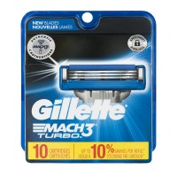Gillette Mach3 Turbo Refill Cartridges Triple Blade