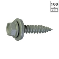 Teks #9 x 1-1/2 in. Zinc Plated Steel Hex Washer Head Roofing Screws (100-Pack)