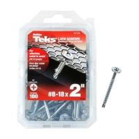 Teks #8-18 x 2 in. Lath Drill Point Screw (100-Pack)