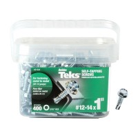 Teks #12-14 x 1 in. Hex Washer Head Drill Point Screw (400-Pack)