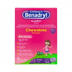 Benadryl Children's Allergy Relief Grape Flavor Chewable Tablets
