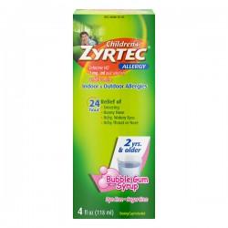 Zyrtec Children's Indoor & Outdoor Allergy Relief Bubblegum Syrup