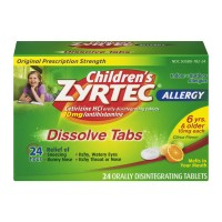 Zyrtec Children's Allergy Relief 10 mg Citrus Dissolve Tabs