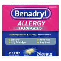 Benadryl Allergy Dye Free Liqui-Gels