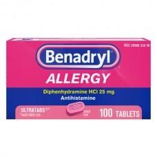 Benadryl Allergy Relief Antihistamine Ultratab