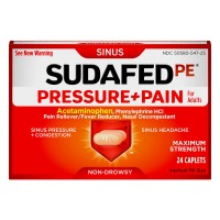 Sudafed PE Pressure + Pain Non Drowsy Adult Maximum Strength Caplets