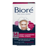 Biore Pore Strips Deep Cleansing Combo Pack 7 Face & 7 Nose