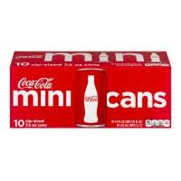 Coca-Cola Classic Mini Cans - 10 pk