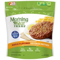 MorningStar Farms Breakfast Veggie Sausage Patties Maple Flavored - 6 ct