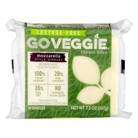 GO Veggie! Cheesy Bliss Mozzarella Style Singles Lactose Free - 12 ct