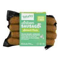 Tofurky Artisan Sausage Spinach Pesto Meat Free - 4 ct