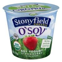 Stonyfield O'Soy Fruit on the Bottom Soy Yogurt Strawberry Organic